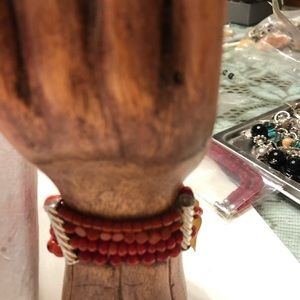 Jewelry - Coral and silver set